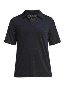 Röhnisch dames golfpolo Argyle zwart
