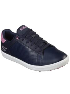 Skechers dames golfschoenen Drive Shimmer navy-roze