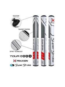 SuperStroke Traxion Tour 2.0 puttergrip wit-rood-grijs