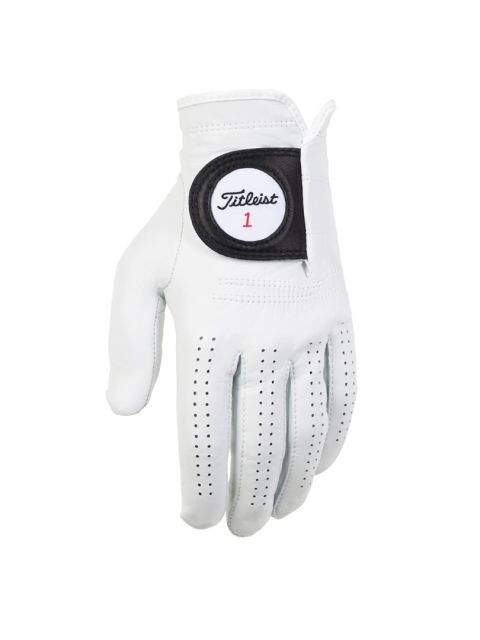 Titleist heren golfhandschoen Players leer wit