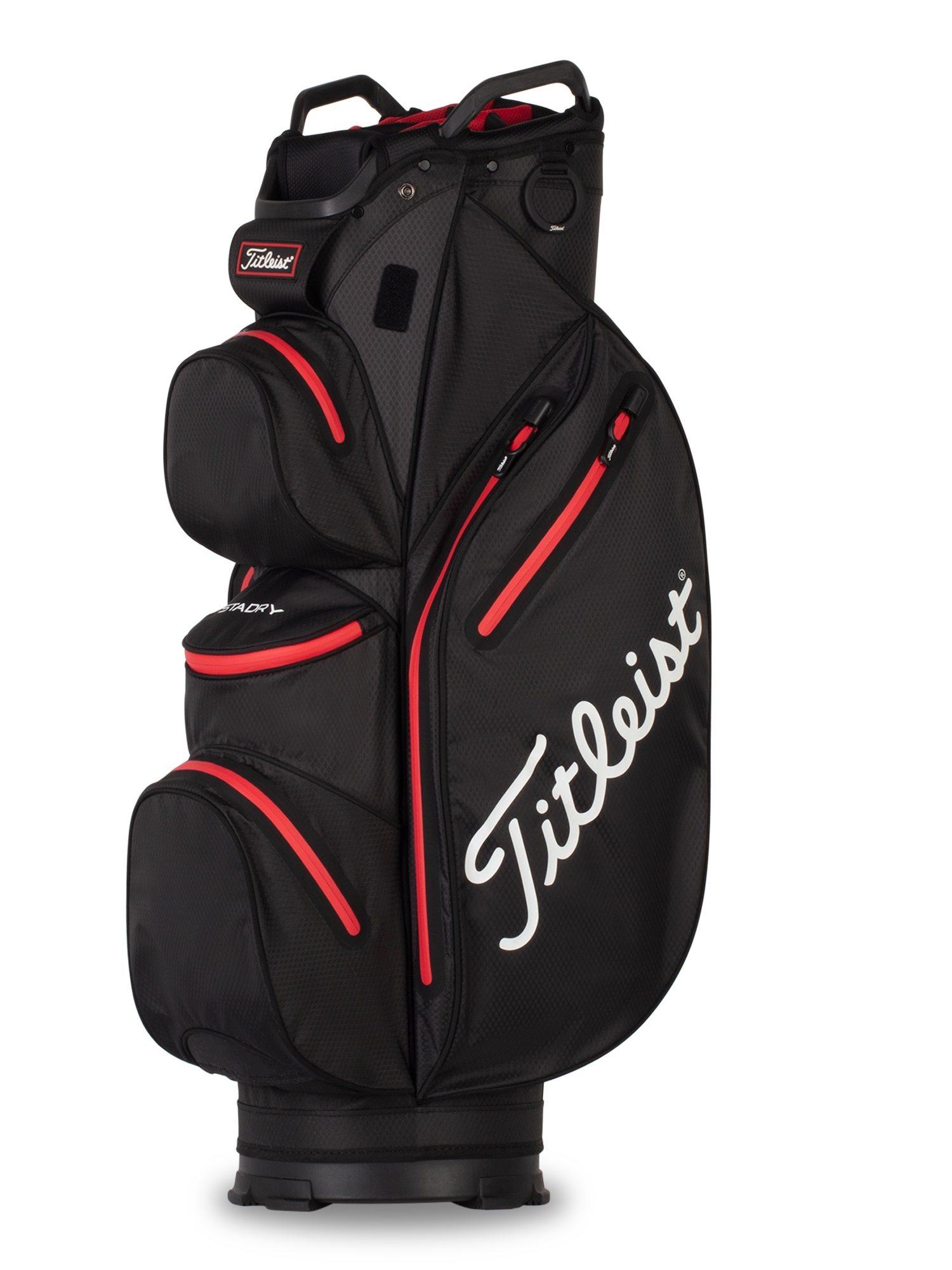 Titleist golftas 14 StaDry Cart Bag zwart-rood