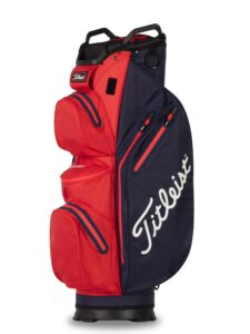 Titleist golftas 14 StaDry Cart Bag donkerblauw-rood