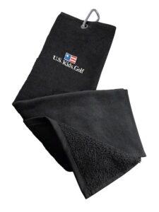 US Kids Golf junior golfclub handdoek zwart