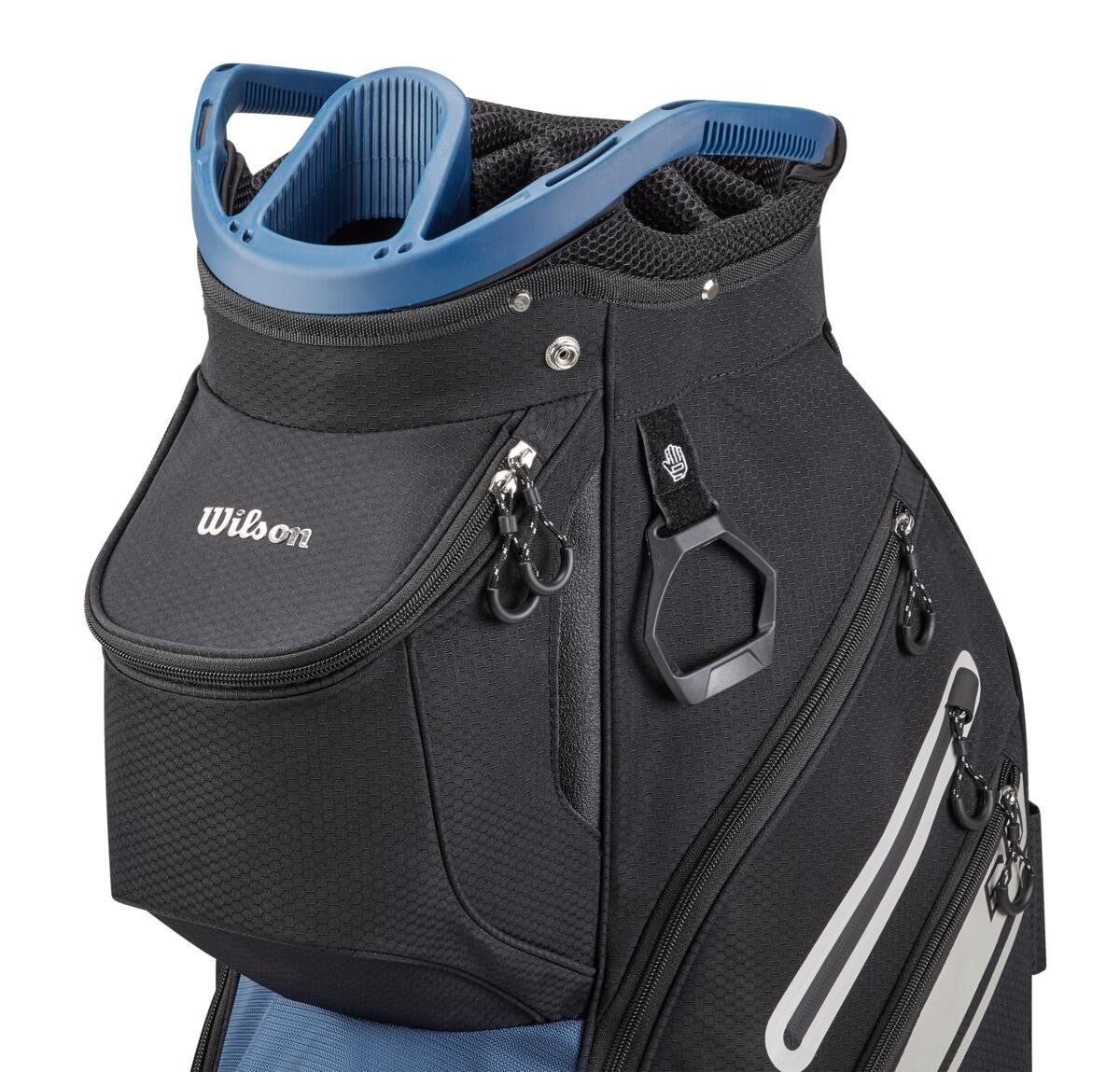 Wilson Staff golftas Exo II Cart Bag zwart-zilver