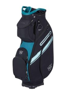 Wilson Staff golftas Exo II Cart Bag zwart-groen met dames purse