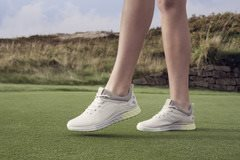 Ecco dames golfschoenen S-Three zandkleurig
