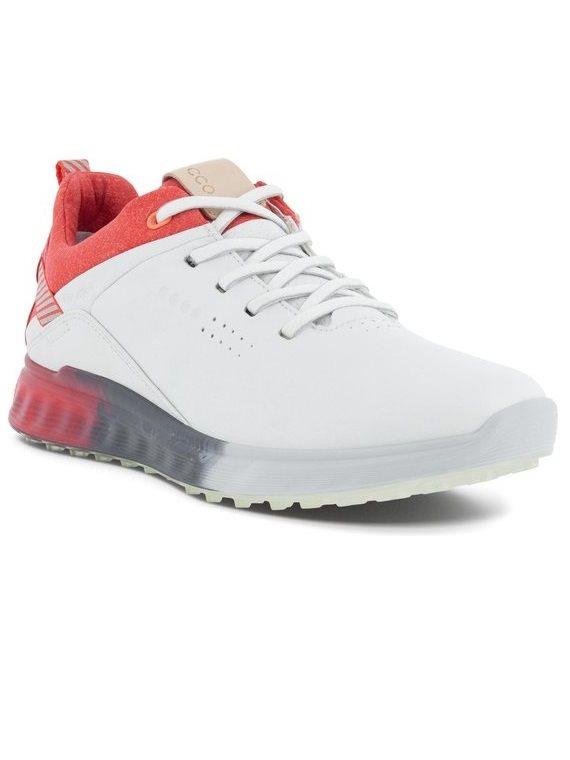 Ecco dames golfschoenen S-Three wit-rood