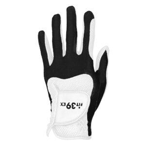 Fit39ex unisex golfhandschoen zwart-wit