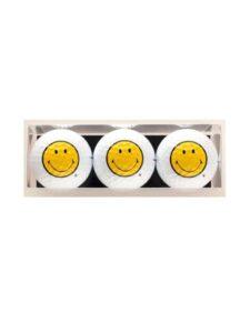 Sportiques golfballen Smiley 3 stuks