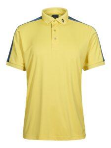 Peak Performance heren golfpolo Player geel-blauw