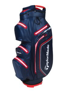 TaylorMade golftas Storm-Dry Waterproof Cart Bag navy-rood