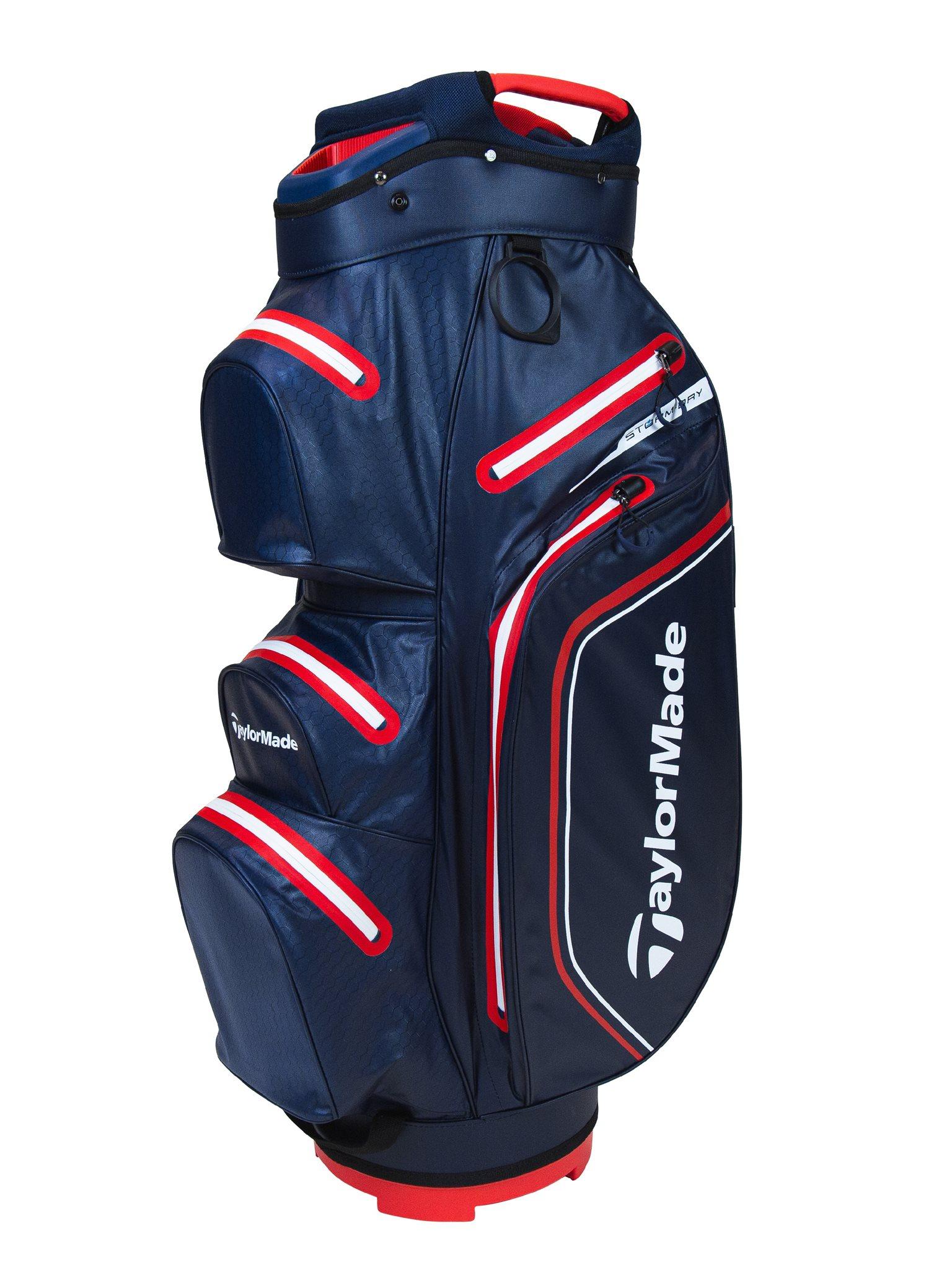 TaylorMade golftas Storm-Dry Waterproof Cart Bag navy-rood