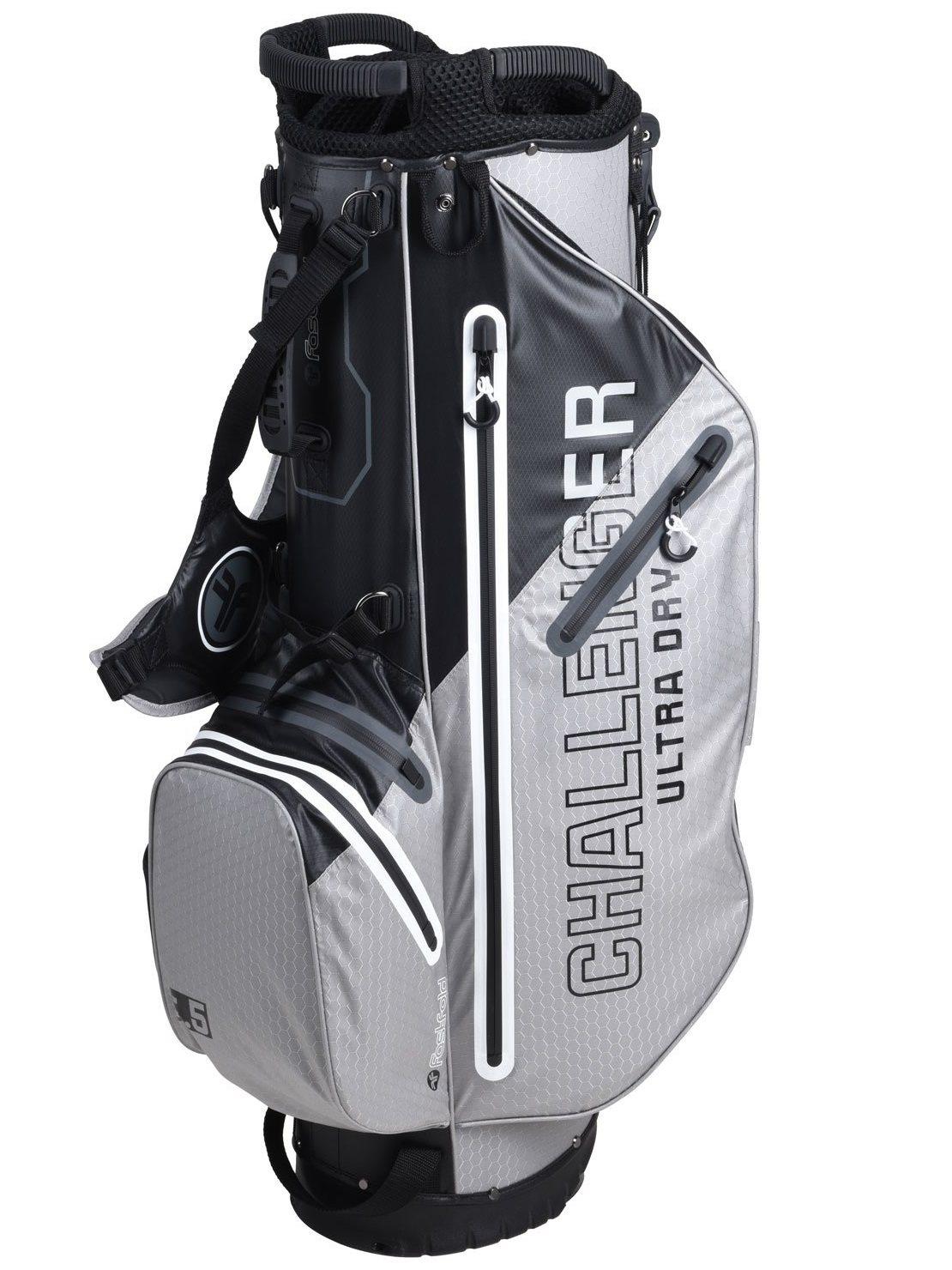 Fastfold golftas Challenger WP Stand Bag zwart-wit