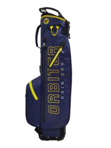 Fastfold golftas Orbiter Rain Dry Stand Bag navy-geel