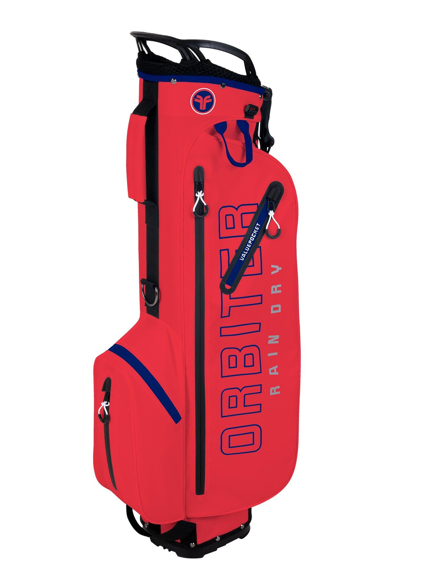 Fastfold golftas Orbiter Rain Dry Stand Bag rood-navy