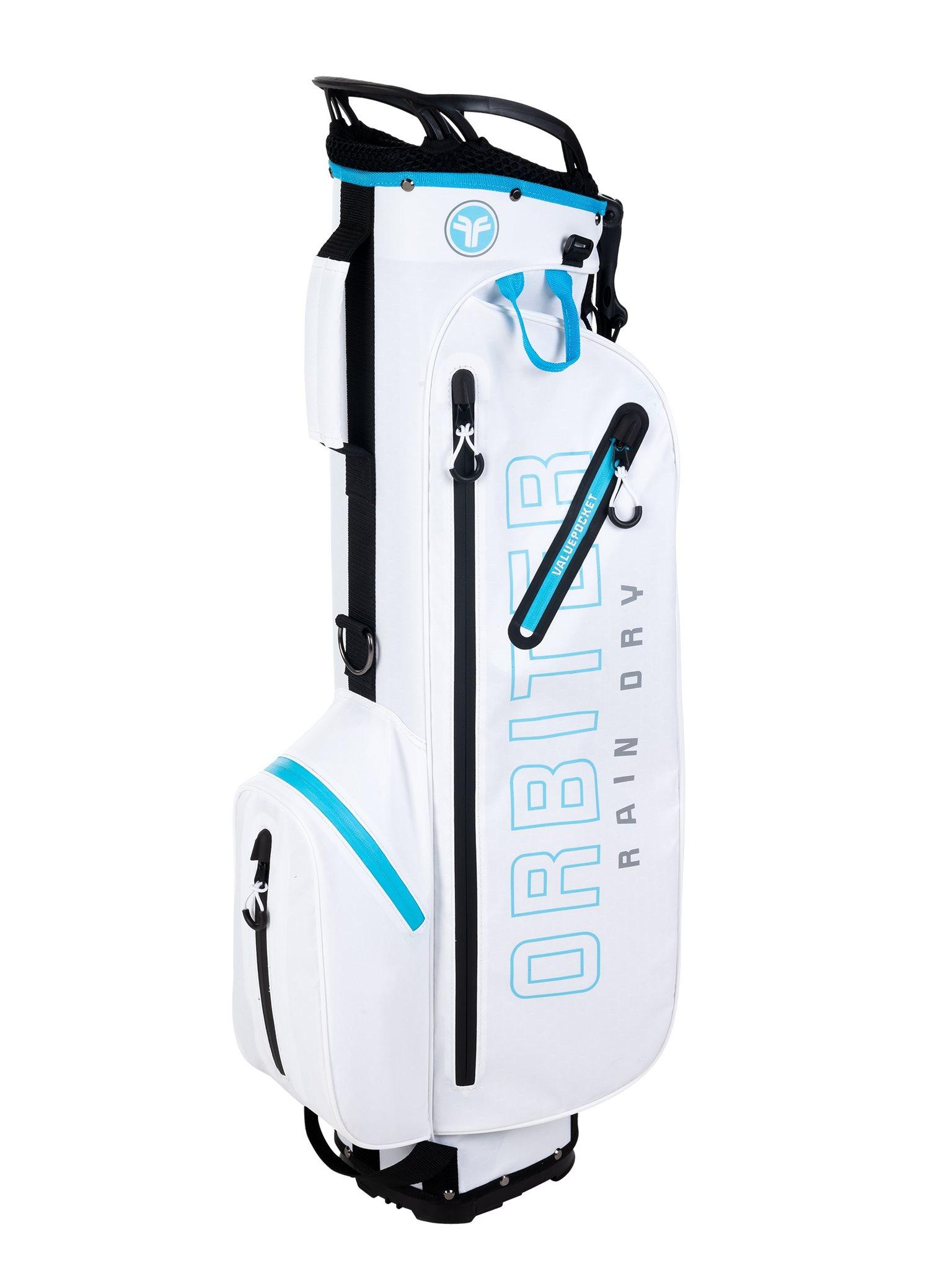 Fastfold golftas Orbiter Rain Dry Stand Bag wit-blauw