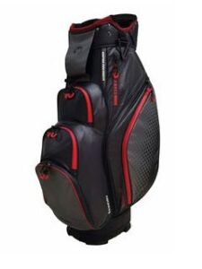 Fastfold golftas Storm WP Cart Bag zwart-rood
