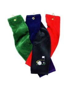 Silverline golfhanddoek Motive zwart