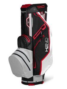 Sun Mountain golftas H2NO 14 Lite Cart Bag zwart-wit-rood