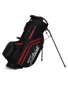 Titleist golftas Hybrid 14 Stand Bag zwart-rood