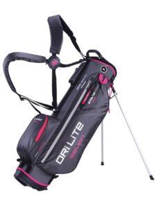 Big Max golftas Dri Lite 7 Stand Bag donkergrijs-fuchsia