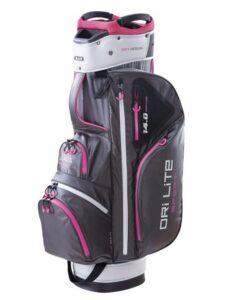 Big Max golftas Dri Lite Sport Cart Bag donkergrijs-zilver-paars