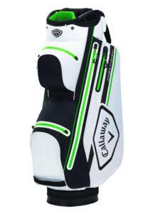 Callaway golftas Chev 14 Dry Cart Bag wit-zwart-groen
