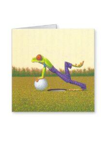 Golf Wenskaart Opkikker