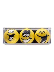 Sportiques golfballen Big Smiley 3 stuks