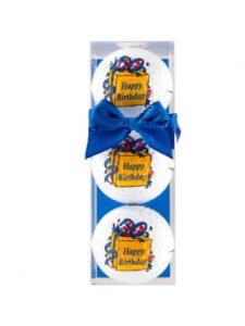 Sportiques golfballen Happy Birthday Box 3 stuks