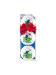 Sportiques golfballen Happy Birthday golf 3 stuks