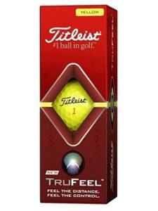 Titleist golfballen TruFeel sleeve geel