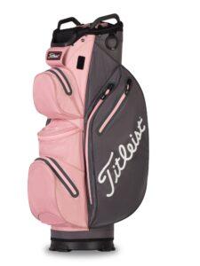 Titleist golftas 14 StaDry Cart Bag roze-grijs