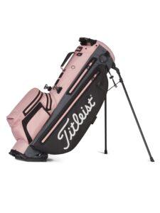 Titleist golftas Players 4+ StaDry Stand Bag roze-zwart-grijs