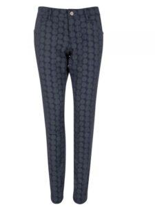 Alberto dames golfpantalon Mona-L Dots blauw-grijs