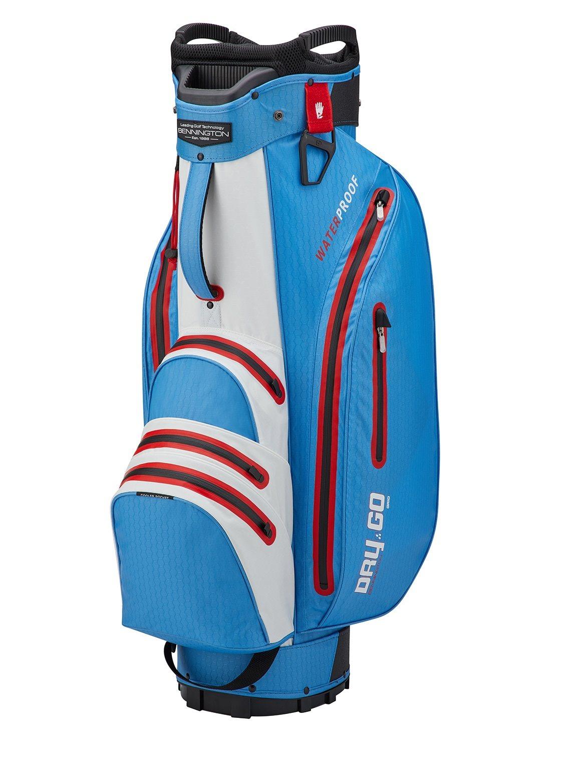 Bennington golftas Dry-Go DB Cart Bag blauw-wit