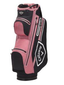 Callaway golftas Chev 14 Dry Cart Bag zwart-roze-wit