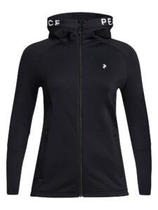 Peak Performance dames golfvest Rider Zip Hood zwart