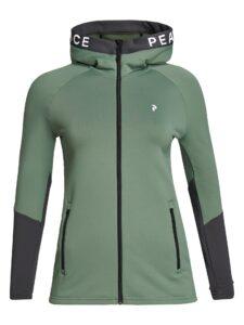 Peak Performance dames golfvest Rider Zip Hood groen