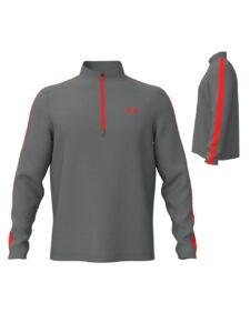 Under Armour heren golfsweater Storm Midlayer 1/2 rits grijs-rood