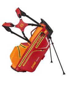 Bennington golftas Zone 14 DB Stand Bag Waterproof rood-oranje