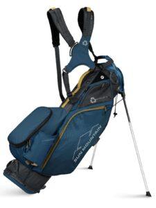 Sun Mountain golftas Eco Lite 14 EWP Stand Bag blauw-grijs-geel