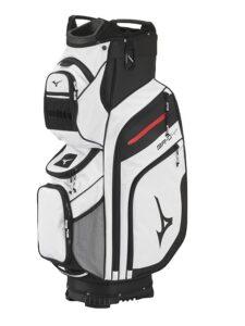 Mizuno golftas BR-D4 14W Cart Bag wit-zwart